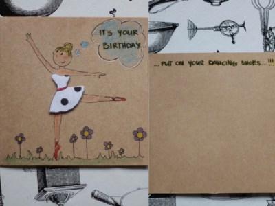 Birthday Card, Ballerina