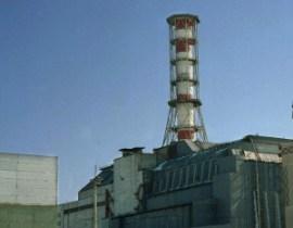 Das AKW von Tschernobyl mit Sarkophag