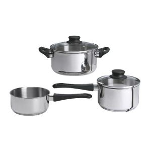 These basic posts/sauce pans will do all you need them to.