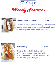Weekly Features July 1 to 7, 2016