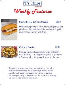 Weekly Features Sept 2 to 8, 2016