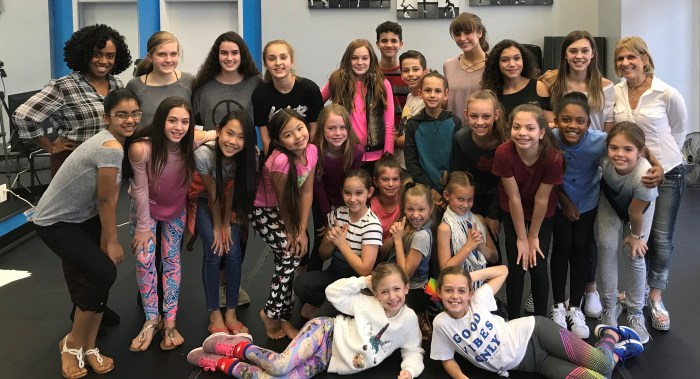 Photo of T. Schreiber Studio's kid and teen acting class with students and teacher
