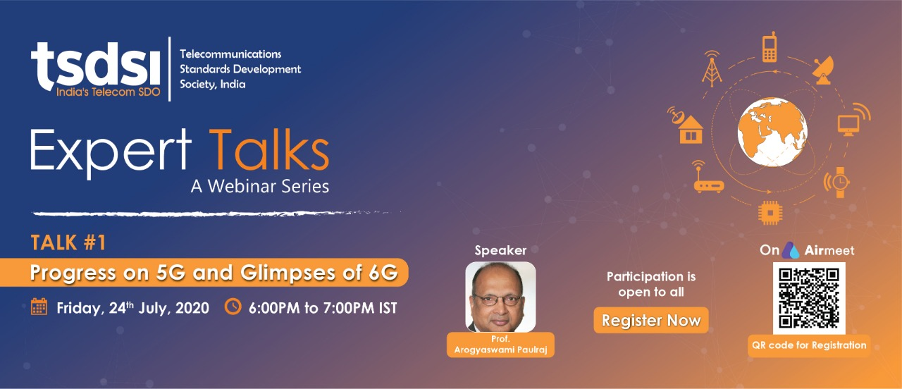Prof Paulraj TSDSI Expert Talk Event Page Banner