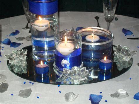 diy reception flowers decor centerpieces centerpiece mockup blue