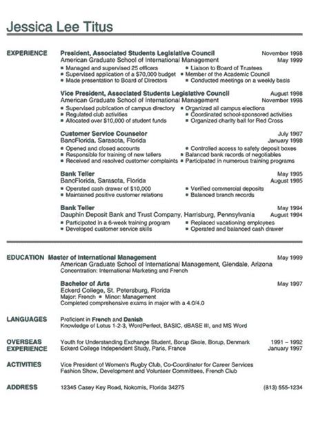 college international images college resume college resume template