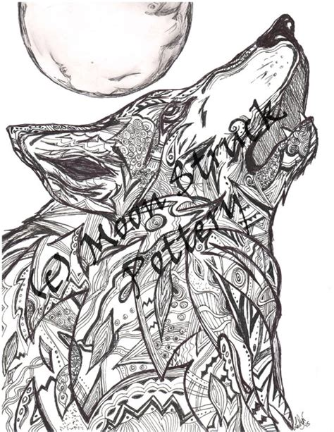animal coloring page wolf coloring page adult coloring