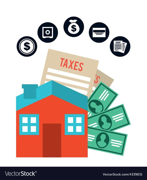 pay taxes royalty free vector image vectorstock