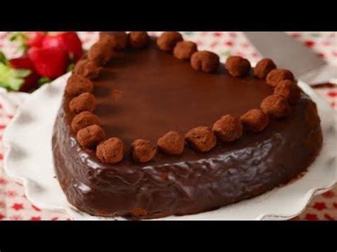 chocolate heart cake recipe demonstration joyofbaking youtube images