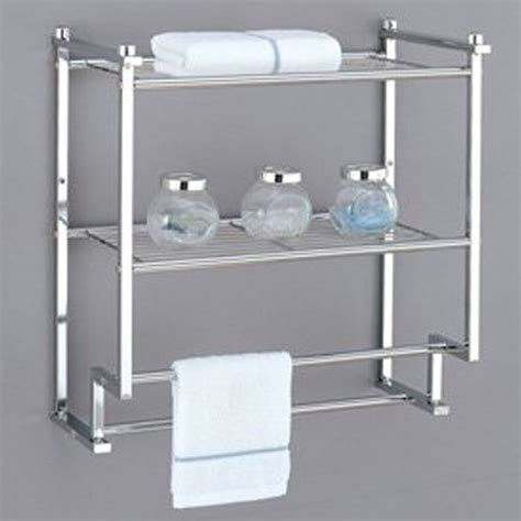 towel rack bathroom shelf organizer wall mounted