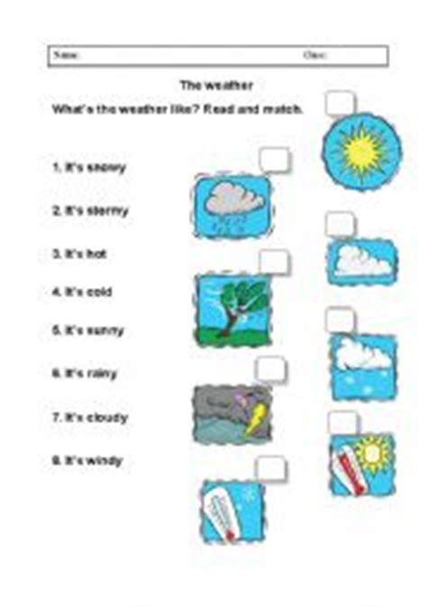 english worksheets weather worksheets page 58