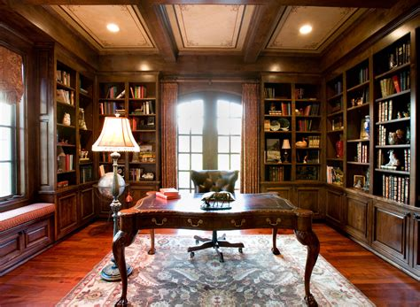 office cabinetry ideas library style home traditional home