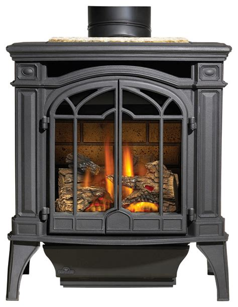 napoleon black gas stoves bayfield gds25 rustic indoor