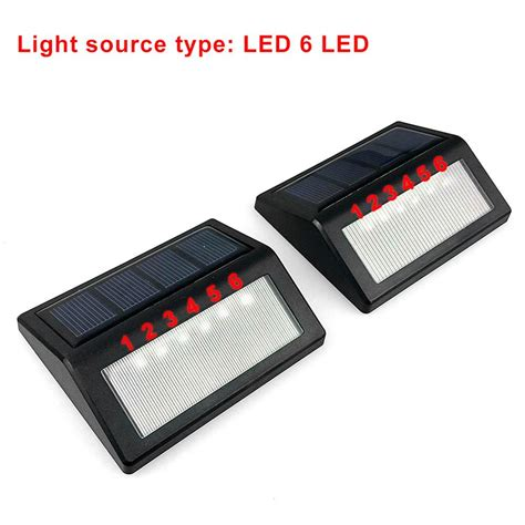 2018 updated version waterproof 6 led solar power