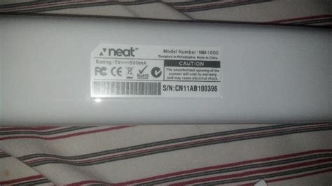 neat receipts nm 1000 portable scanner