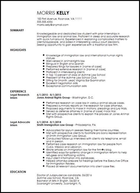 free traditional legal internship resume template resume