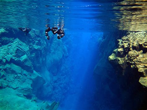 facing notoriously cold icelandic waters scuba diving snorkelling