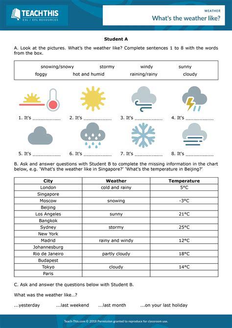 weather weather vocabulary weather activities weather worksheets