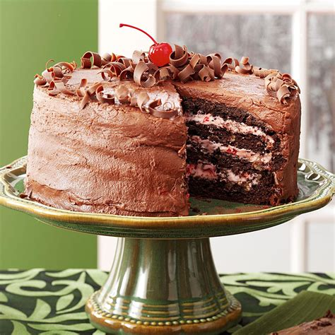 cherry chocolate layer cake recipe taste home