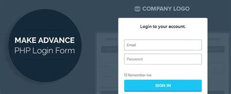 advance php user login registration script formget