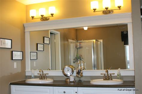 Bathroom Mirror Border Ideas