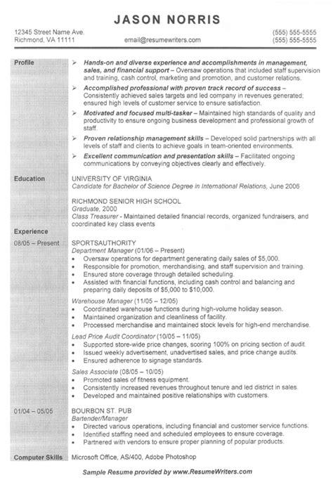 graduate school resume free sle resumes