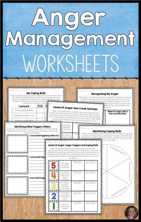 stress management upper elementary anger management worksheets students