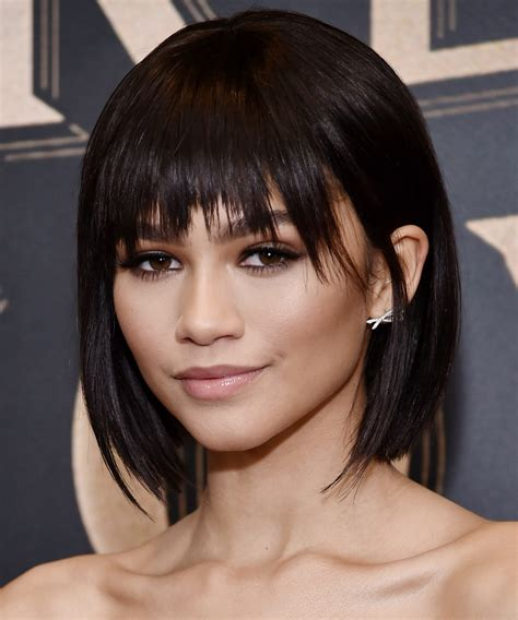 short hairstyles bangs spring instyle