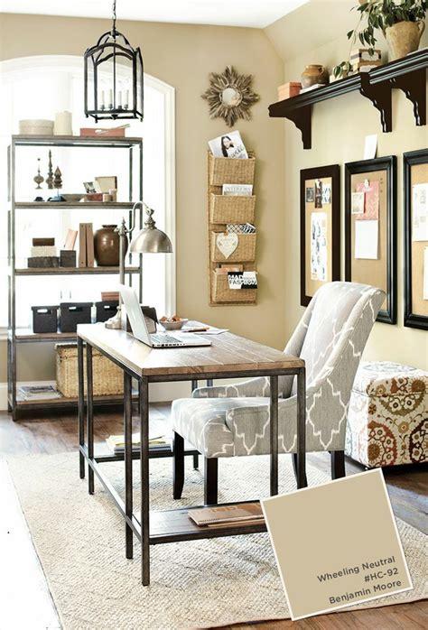 grey beige home office black accents wheeling neutral