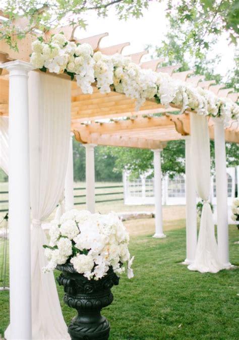 outdoor white wedding