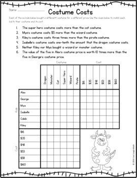 halloween math logic puzzles halloween activities grades 4