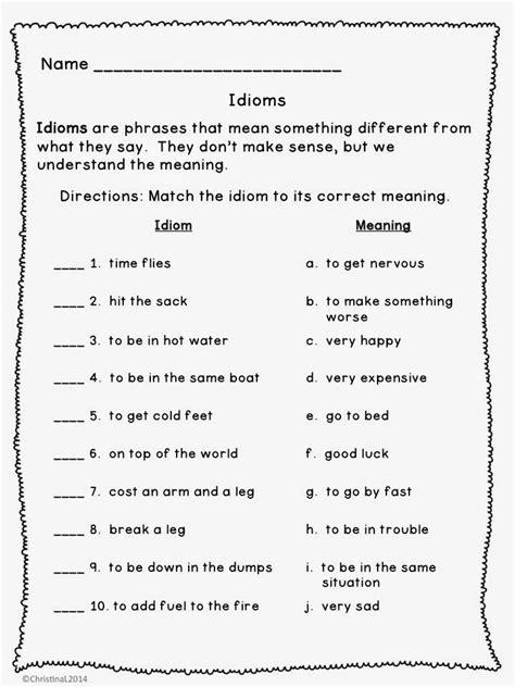 7th grade figurative language worksheets google search language