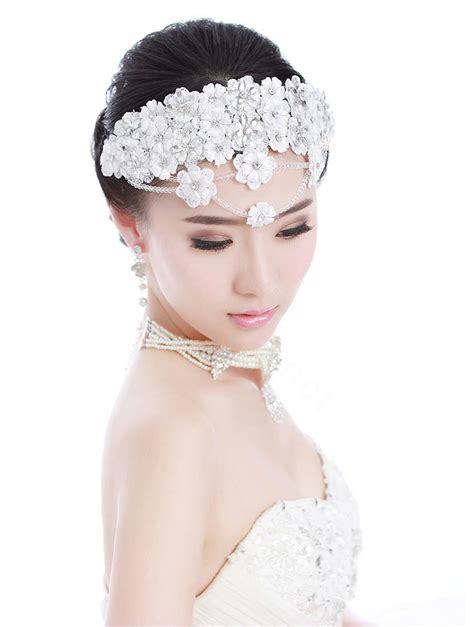 buy wholesale luxury bride rhinestone lace flower beads