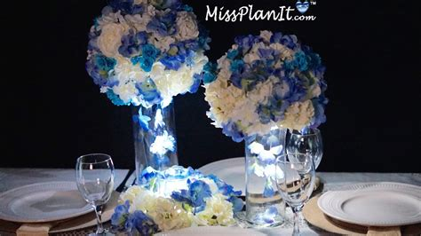 blue wedding centerpiece diy create blue skies centerpiece