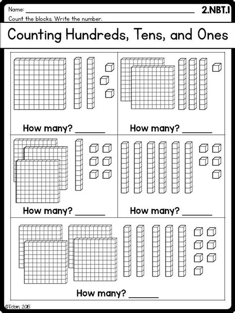 2nd grade math printables worksheets numbers operations base