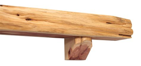 pearl mantels cedar live edge log fireplace shelf