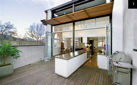 indoor outdoor kitchen outdoor spaces pinterest