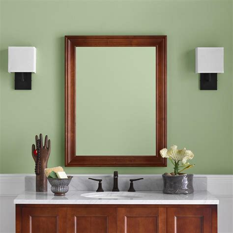 27 william traditional solid wood framed bathroom mirror