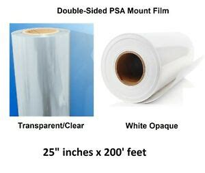 clear white double sided mounting laminate perm adhesive