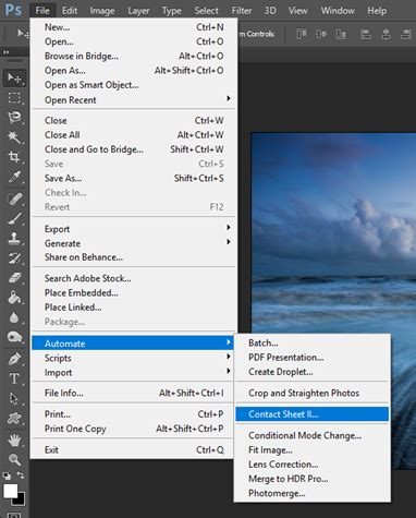contact sheet photoshop windows photography revision