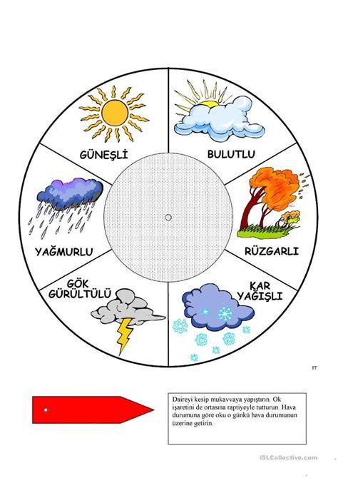 weather forecast english esl worksheets