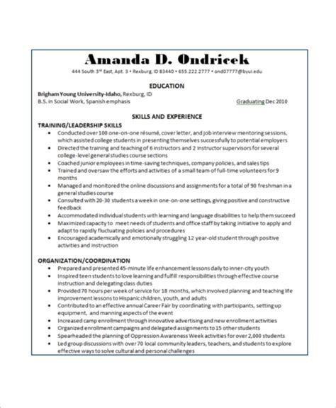 free 8 basic resume sles ms word
