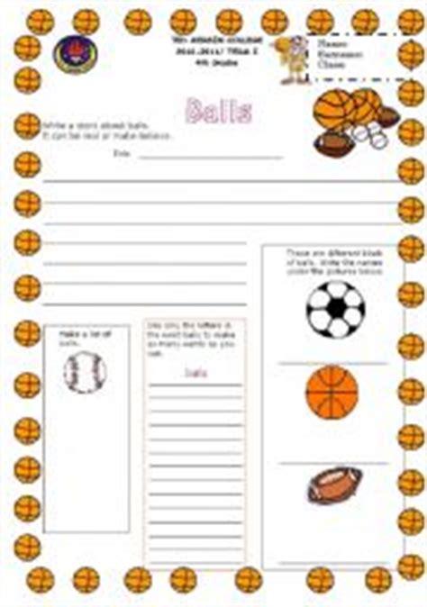 english worksheets basketball writing