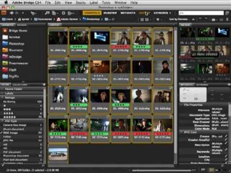 adobe bridge cs4 minute savings contact sheets youtube