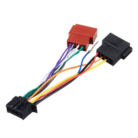 car stereo radio player iso wiring harness connector