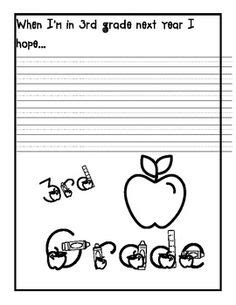 free year writing activity thirdgradetroop grade writing 2nd