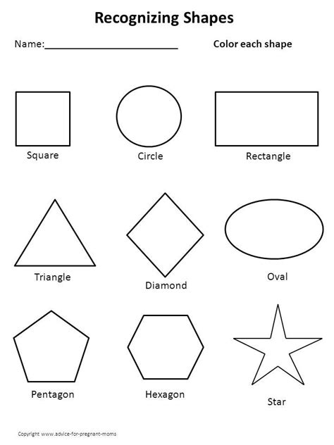 kindergarten worksheets printable worksheets preschool temp shape worksheets