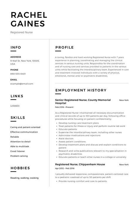 registered nurse resume sle writing guide 12 sles