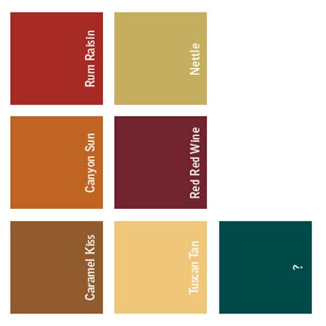 tuscan paint palette home ideas pinterest