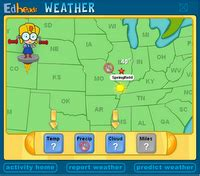 weather map reporting predicting interactive game