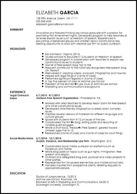 free creative legal internship resume template resume